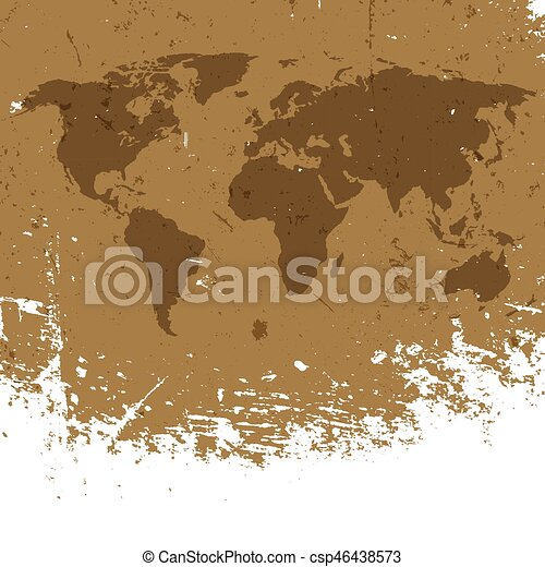 Grunge world map background abstract old aged geography vector grunge world map background abstract old aged geography vector background isolated edge to white gumiabroncs Choice Image