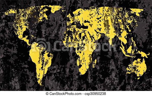 Grunge world map on a black background gumiabroncs Images