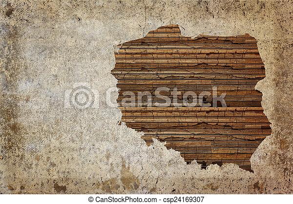 Grunge world map. Grunge vintage wooden plank poland map background.