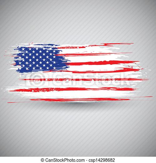 grungy, bandiera americana, fondo - csp14298682