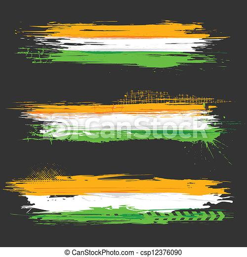 grungy, bandiera, indiano, bandiera - csp12376090