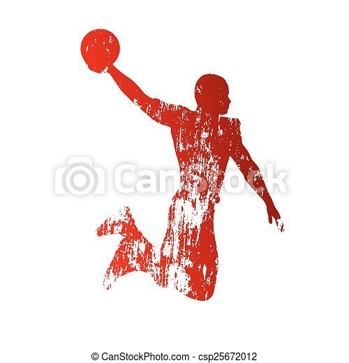 Grungy basketball player - csp25672012