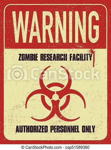 Grungy biohazard symbol - csp51589360
