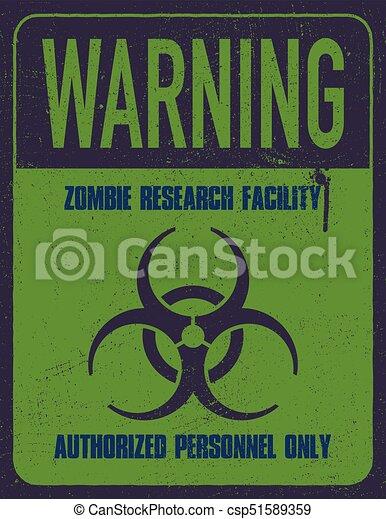 Grungy biohazard symbol - csp51589359