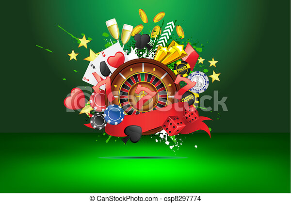 grungy, casino - csp8297774