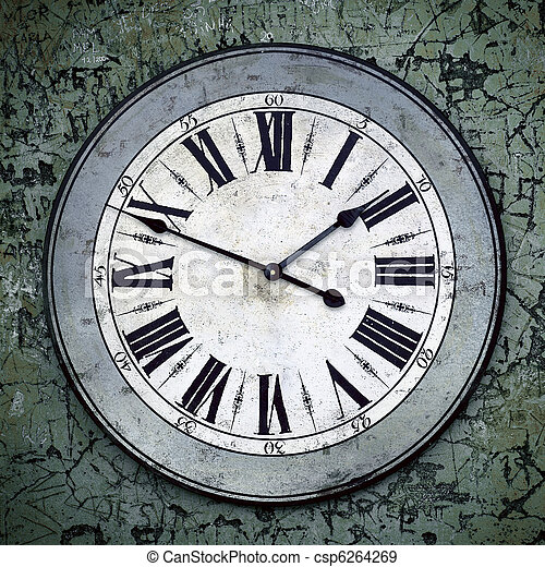 Grungy Clock - csp6264269