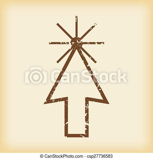 Un icono de flecha dura - csp27736583