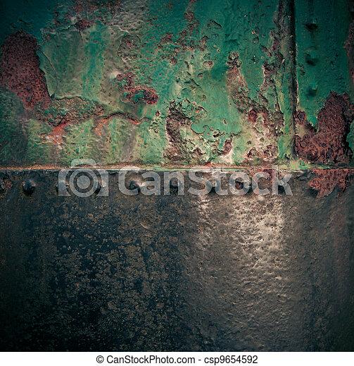 grungy, festett, berozsdásodott, vas, struktúra - csp9654592