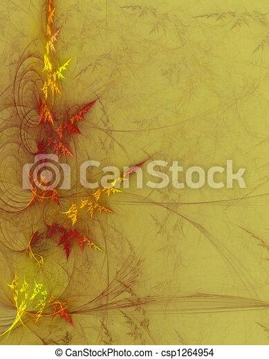 Grungy foliage background - csp1264954