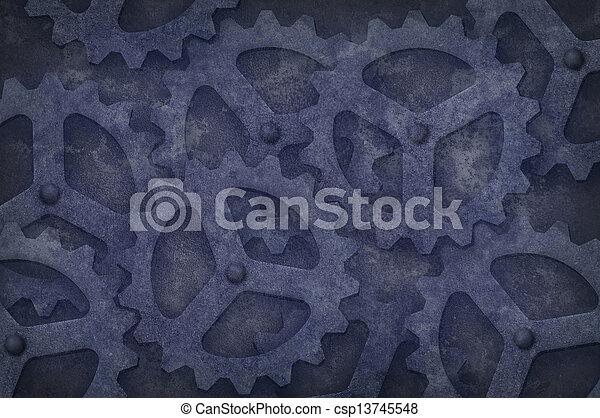 Grungy Gear Background - csp13745548