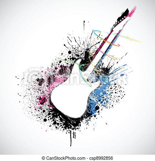Grungy Guitar - csp8992856