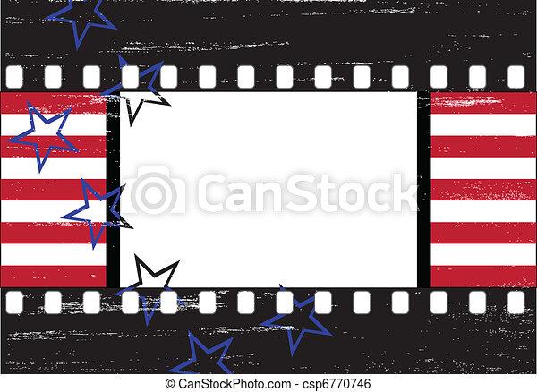 Grungy Hollywood frame - csp6770746