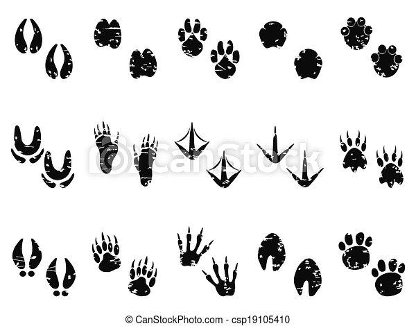 El icono de huellas de animales - csp19105410