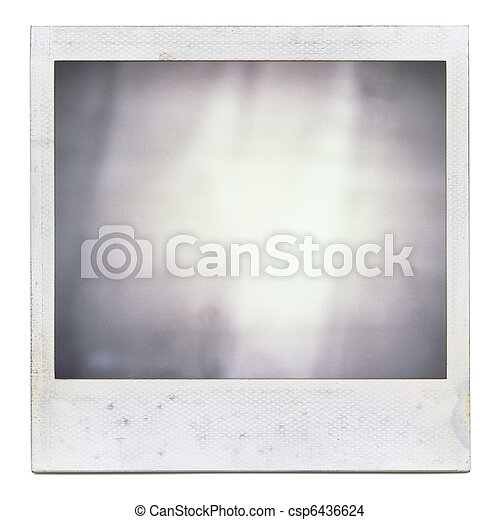 Grungy instant film frame with abstract filling  - csp6436624