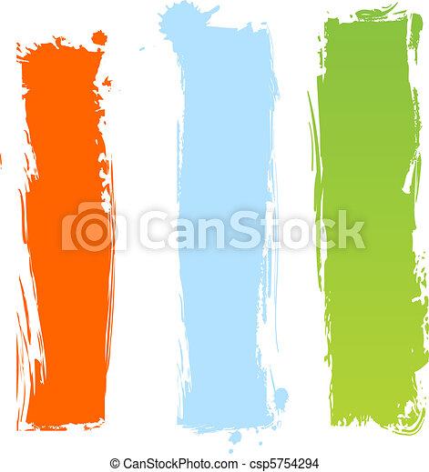 Pancartas multicolores verticales - csp5754294