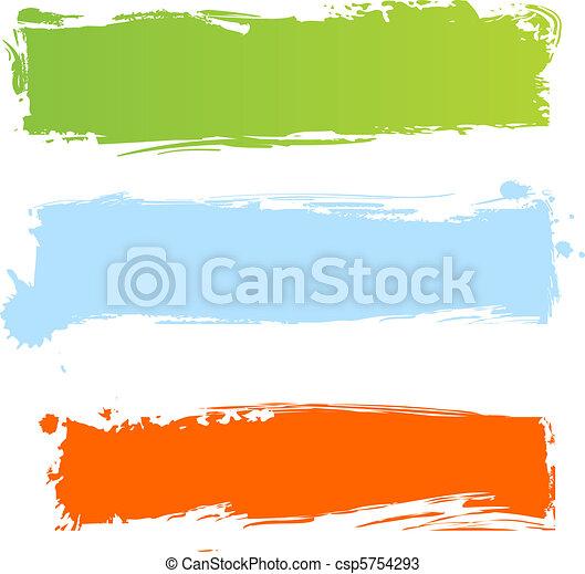 grungy, multicolor, bandiere - csp5754293