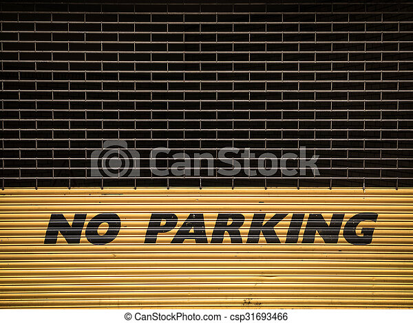 Grungy No Parking Sign - csp31693466