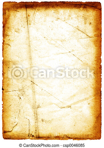 grungy, papier, orange - csp0046085