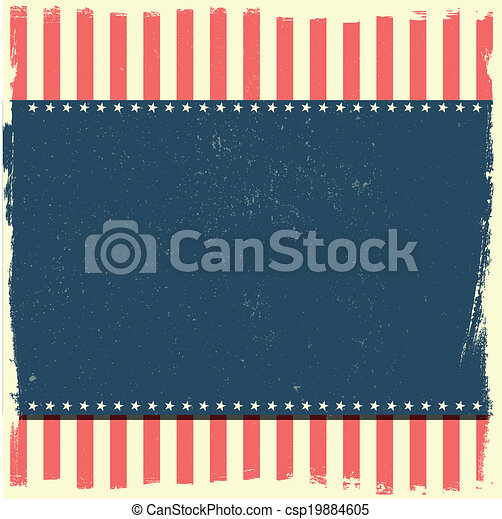 grungy patriotic background - csp19884605