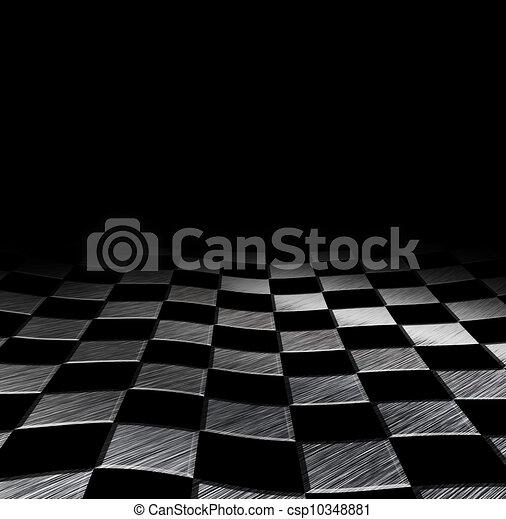 grungy, schaakbord, achtergrond - csp10348881