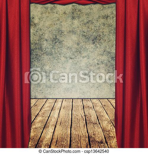 grungy teatral fondos cortinas rojas foto de archivo - Cortinas Rojas