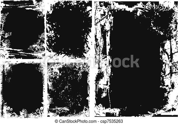 grungy, textura - csp7535263
