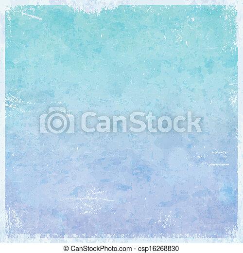 grungy, themed, zima, tło, lód - csp16268830