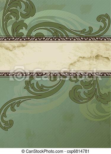 Grungy Victorian vintage banner - csp6814781