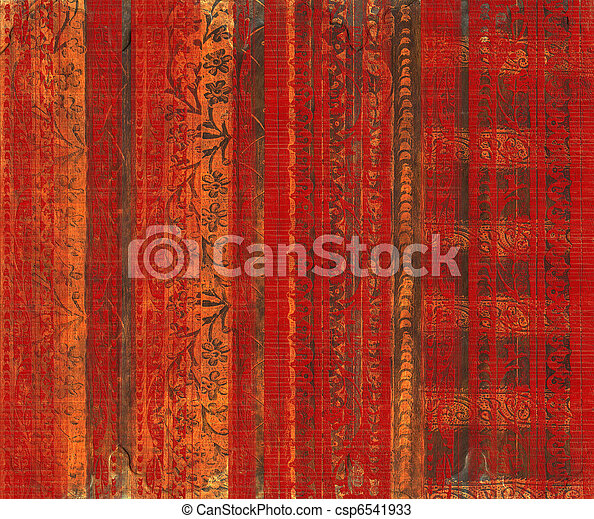 Grungy wood carved background - csp6541933