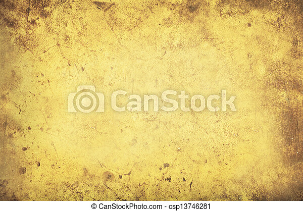 Grungy yellow background texture - csp13746281