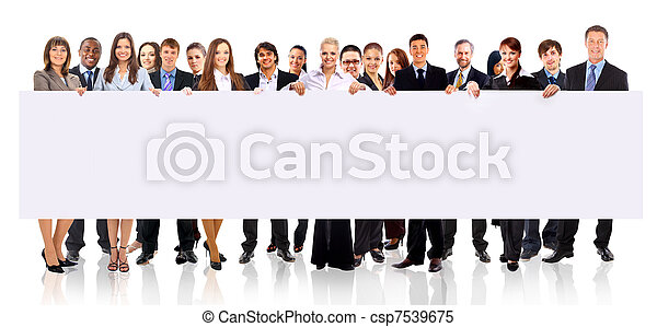 grupa, ad, handlowy zaludniają, odizolowany, dzierżawa, biały, chorągiew - csp7539675