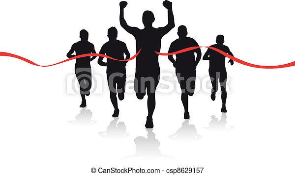 grupa, biegacze - csp8629157