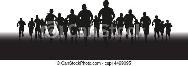 grupa, biegacze - csp14499095
