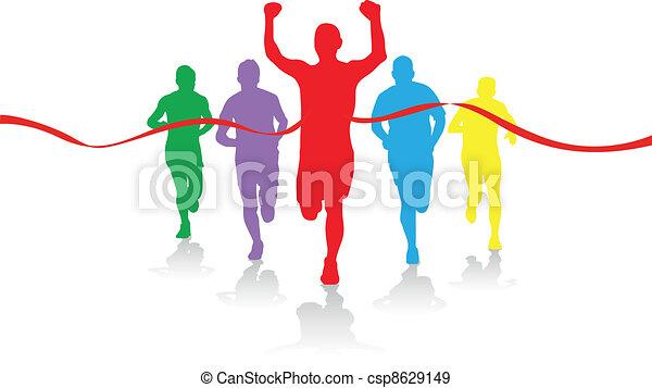 grupa, biegacze - csp8629149
