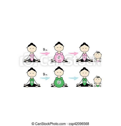 grupa, brzemienny, yoga, projektować, twój, kobiety - csp42096568