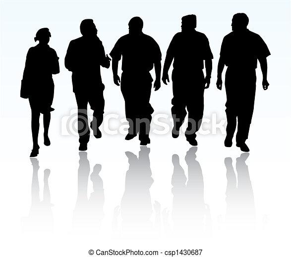 grupa, handlowy zaludniają - csp1430687