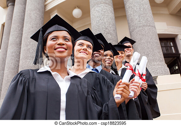grupa, kolegium, absolwenci - csp18823595