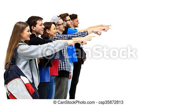 grupa, młody, spoinowanie, ludzie - csp35872813