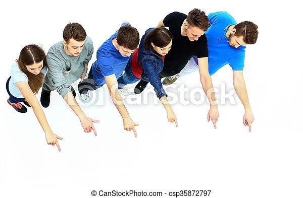 grupa, młody, spoinowanie, ludzie - csp35872797