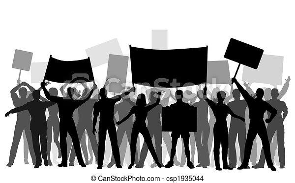 grupa, strona protestująca - csp1935044