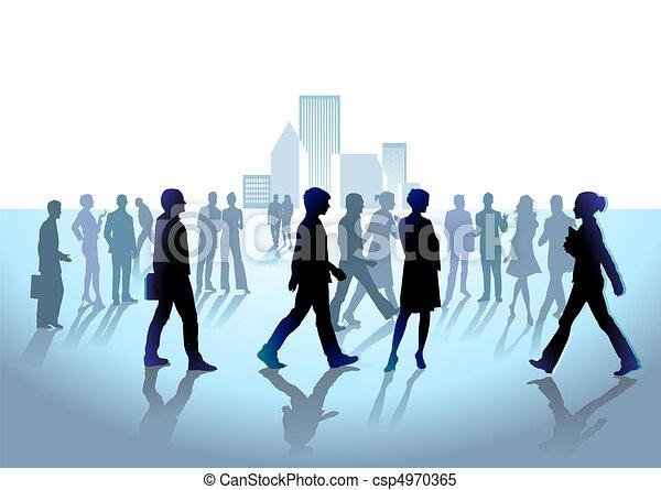 grupa, tłum, ludzie - csp4970365
