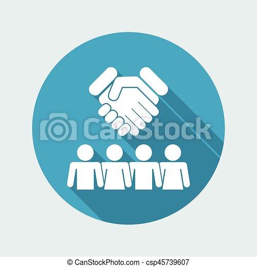 icono de acuerdo de grupo - csp45739607