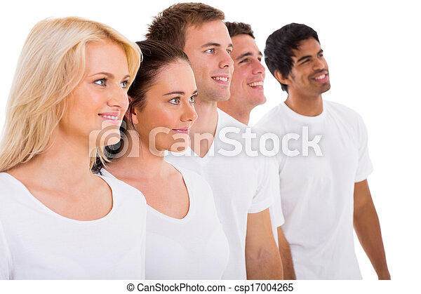 grupo, amigos, adulto joven - csp17004265