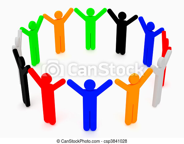 grupo, amigos - csp3841028