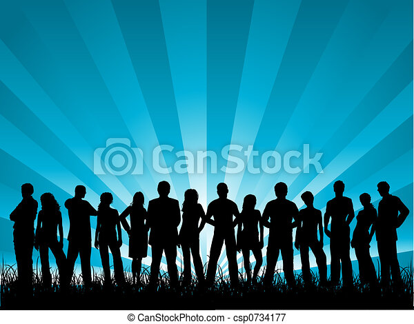 grupo, amigos - csp0734177