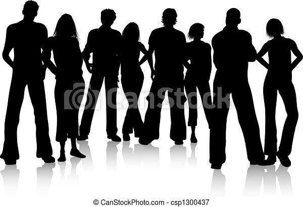 grupo, amigos - csp1300437