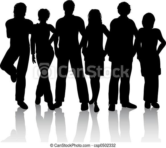 grupo, amigos - csp0502332
