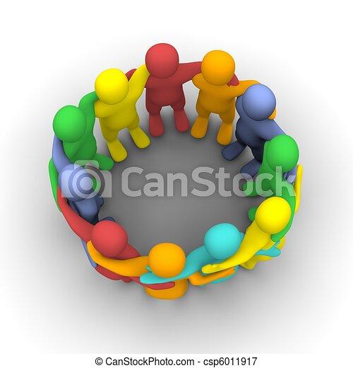 grupo, amigos, social - csp6011917