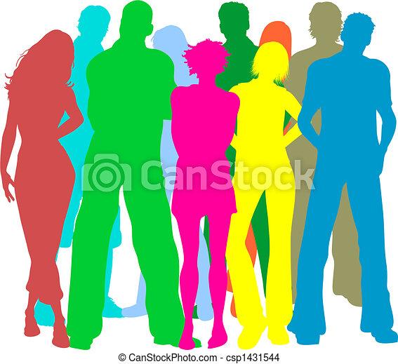 grupo, amigos - csp1431544