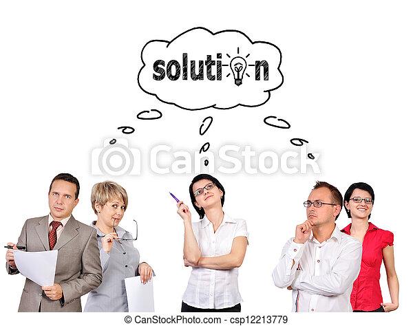 Grupo de empresarios - csp12213779